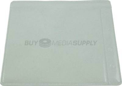 Non woven White Plastic Sleeve CD/DVD Double-sided Style #2 - 2100 Pack