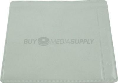 Non woven White Plastic Sleeve CD/DVD Double-sided Style #2 - 2300 Pack