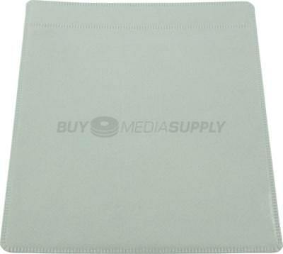 Non woven White Plastic Sleeve CD/DVD Double-sided - 2200 Pack