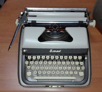 EVEREST DE LUXE NO OLIVETTI  del 1953 VINTAGE  TYPEWRITER #MADE IN ITALY#