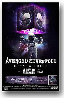 Avenged Sevenfold Poster - 2017 The Stage Tour 11 x 17 A7X New