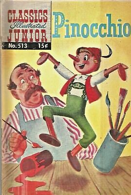 Classics Illustrated Junior #513  Pinocchio   Hrn 568  Silver-Age 1959