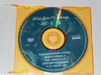 2006 2007 2008 2009 Ford Lincoln Mercury FLM Navigation DVD Disc Map
