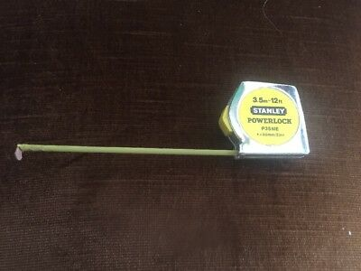 3.5m 12ft STANLEY POWERLOCK P35ME YELLOW TAPE MEASURE