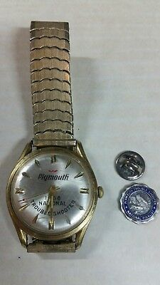 1968 Plymouth National trouble shooter Waltham watch and finalist pin
