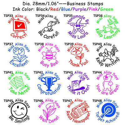 Teacher Self Inking Stamps Customized Rubber Reward School Supplies Stamp Set