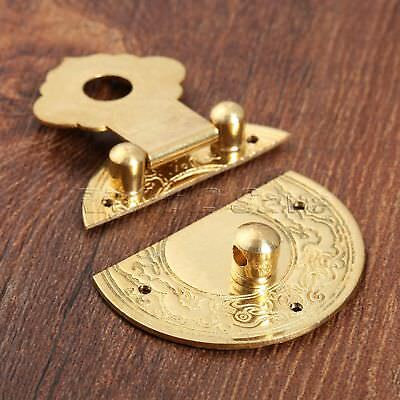 Thick Lock Latch Blessing Totem Buckle Clasp for Cabinet Jewelry Box Chinese Old