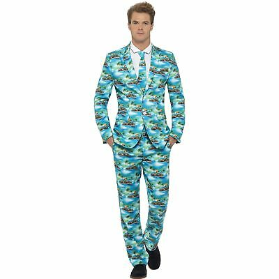 Hawaiian Aloha Stand Out Stag Do Suit Novelty Adults Mens Fancy Dress Costume