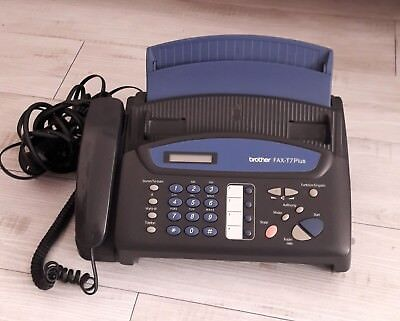 Brother FAX-T7 Plus, Normalpapier-Faxgerät, Thermo Transfer, gebraucht