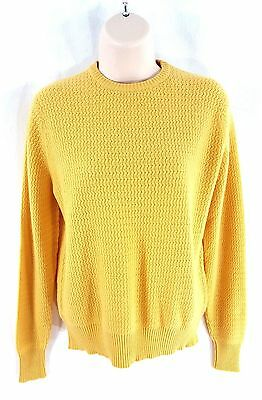 W. Bill LTD By Gladstone Size 40 Cashmere Sweater Golden Yellow Casual Vintage