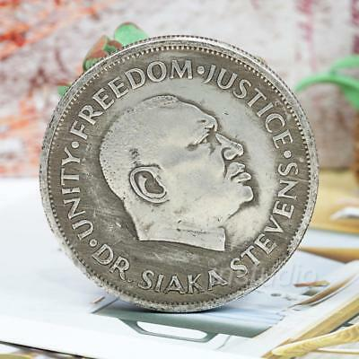 1964-1974 Bank of Sierra Leone Coin One Leone 10th Anniversary P-880 s/