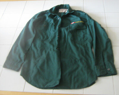 Scouts Canada Green Long Sleeved Scout Uniform Shirt- Size Boy's 12-12.5
