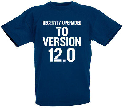Version 8.0 8th Birthday Gifts Present Gift Top T-Shirt For 8 Year Old Boys