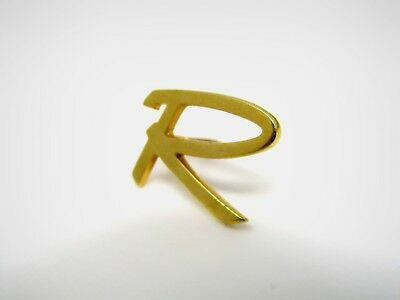 Vintage Collectible Pin: Letter R Incredible Modernist Design High Quality