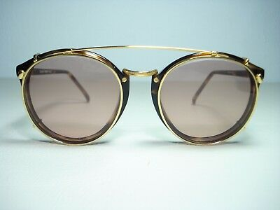 Vintage 1980's Swank Eyeglasses New Old Stock Clip Ons Oliver Peoples Style 50mm
