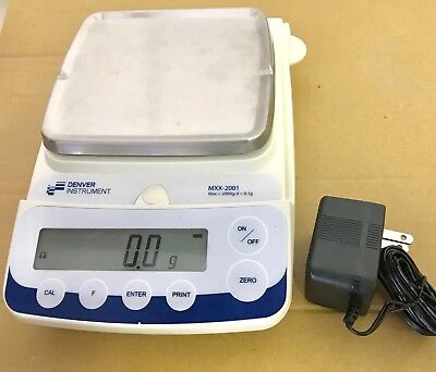 Denver Instrument Digital Analytical Balance MXX-2001 Bundled 2000 Gram Weight