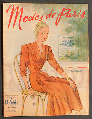 'mode De Paris' French Vintage Magazine 26 March 1948