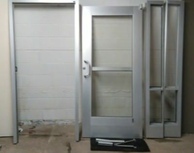 3' Industrial Aluminum Door with Frame and Panic Bar