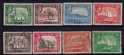ADEN KGVI NICE LOT of MH/Used stamps SC# 16//24 ,CV:$16.20