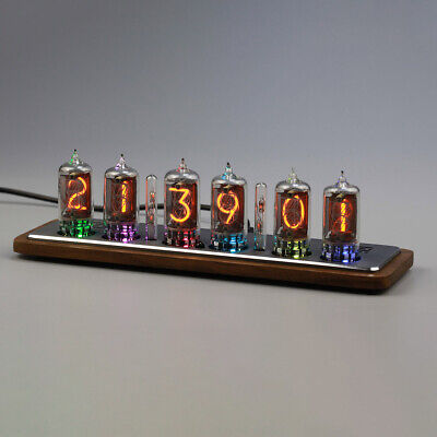 Omnixie Nixie clock,WIFI sync time, wooden case, setup via iPhone Android PC Mac