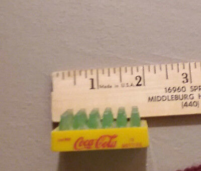 Vintage Miniature Coca Cola Mini Bottles Coke Yellow Plastic Case Crate