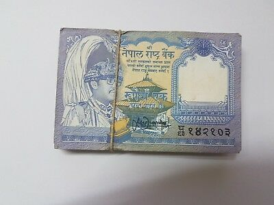 NEPAL 1 Rupee X 100 PCS UNC AUNC NON CONSECUTIVE BUNDLE MIX LOT 0.99 aUCTION
