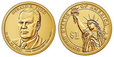 2016 P & D Gerald R. Ford Presidential Dollars positions A & B - 4 coins!