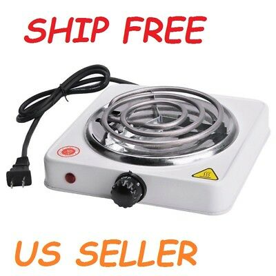 Single Burner Electric Small Hot Plate Stove Portable Travel Compact Dorm Style