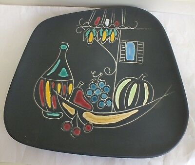 Retro West Germany Kitsch Square Plate