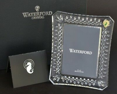 """Waterford Crystal ~ Lismore Cut ~ 4x6"""" Photo Picture Frame ~ Boxed New"""