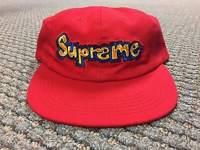 c262a7326bc SUPREME GONZ LOGO 6 Panel Hat Red CONFIRMED SS18 -  70.00