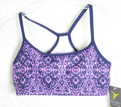 795bb67a05 Girls Old Navy Active Sports Bra Dance Top Wicking Purple Blue Size Large  10 12