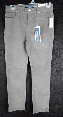 Boys Old Navy Built In Flex Max Karate Cords Corduroy Pants Size GRAY 14 16 ~NEW