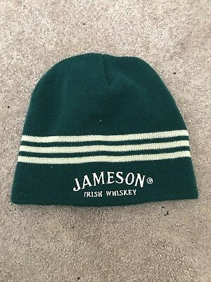 Jameson Irish Whiskey Winter Hat Skull Cap Beanie Green Hat