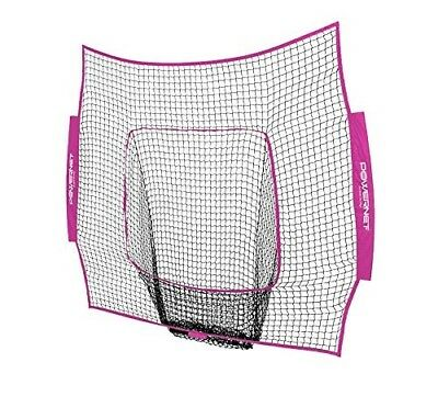 (Pink) - PowerNet Team Colour Nets Baseball and Softball 7x7 Bow Style (Net