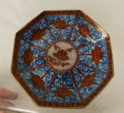 Antique Vintage Japanese Chinese Snuff Dish Small Plate Underglaze Blue