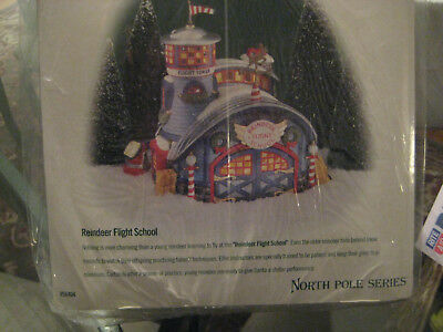 Department 56 North Pole Series Reindeer Flight School Brand NIB #56404