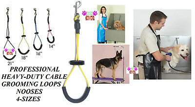HEAVY DUTY PET CABLE LOOP Padded Dog Grooming Table Arm,Bath Tub RESTRAINT Noose