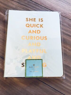 Kate Spade New York Quick Curious Playful Strong Spiral Notebook NEW IN PACKAGE!