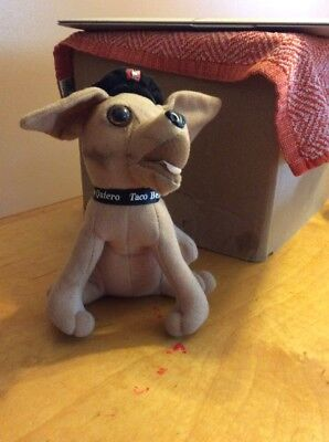 "vintage Taco Bell Chihuahua 6"" Stuffed Plush Dog YO QUIERO by Applause a23"