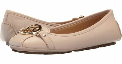 6892414624bc Michael Kors Fulton Soft Pink Saffiano Sexy Mk Gold Logo Moccasins I Love  Shoe