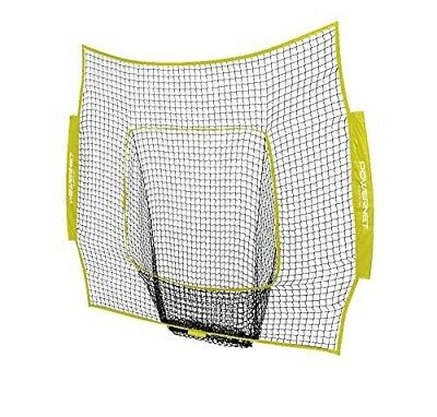(Yellow) - PowerNet Team Colour Nets Baseball and Softball 7x7 Bow Style (Net