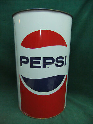 Vintage Pepsi Metal Trash Can Wastepaper Basket Pepsi Advertising- Don't Litter