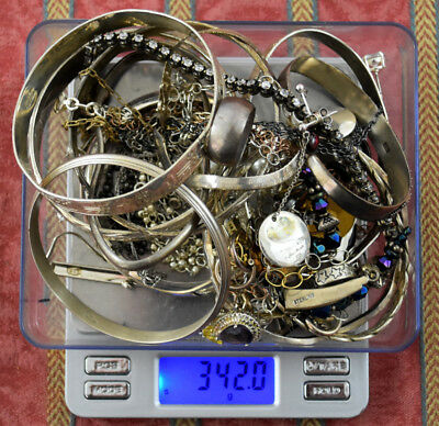 342.0 Grams Sterling Silver .925 - Scrap and Wearable Lot D