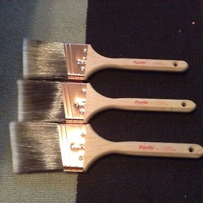 """Lot 3"""" XL Glide  - 3 Angled Purdy Paint Brushes - New"""