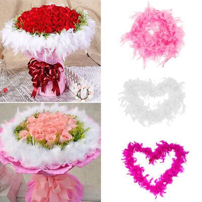 2M Feather Boa Strip Fluffy Craft Costume Dressup Wedding Party Flower Decor w/