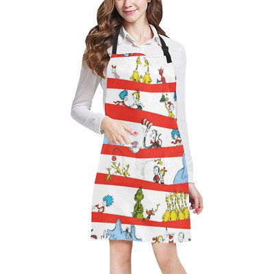 Working Clothing Dr Seuss Kitchen Apron with Pockets Fully Adjustable