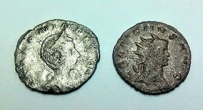 Metal Detecting Finds, 2 Silver Roman Coins, Both Unresearched..