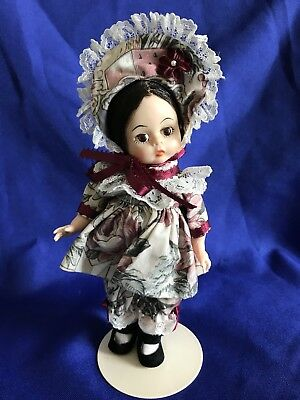 """Madame Alexander 8"""" Doll Formerly Marme Little Women Re-dressed Christmas Outfit"""