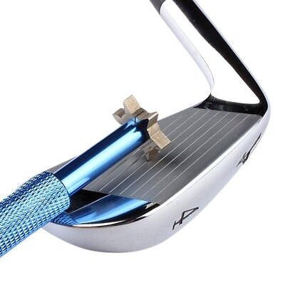 (Blue) - LEORX Golf Club Groove Sharpener Tool with 6 Cutters. Best Price